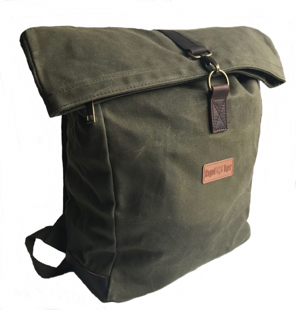 Caged Tiger Waxed Canvas Rucksack